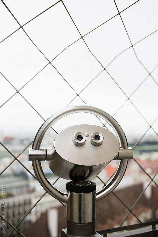 Telescope on the top of the Stephansdom cathedral in Vienna by Jovana Rikalo for Stocksy United