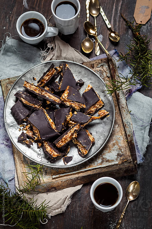 Chocolate bark  by Susan Brooks-Dammann for Stocksy United