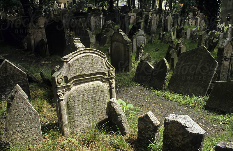 Old Jewish cemetery in Prague, Czech Republic by Per Swantesson for Stocksy United