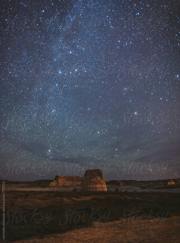 Starry Night and Milky Way at Lake Powell by michelle edmonds for Stocksy United