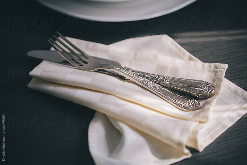 Cutlery on the table by Davide Illini for Stocksy United