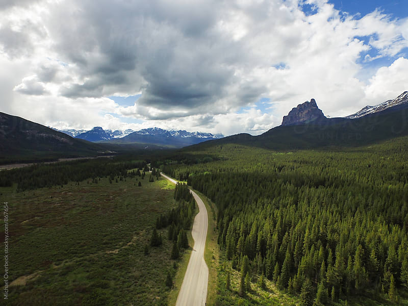 Bow Valley Parkway, Alberta by Michael Overbeck for Stocksy United