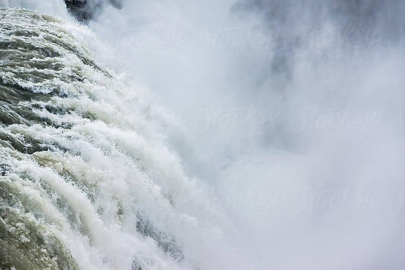 Splashing powerful waterfall by yuko hirao for Stocksy United