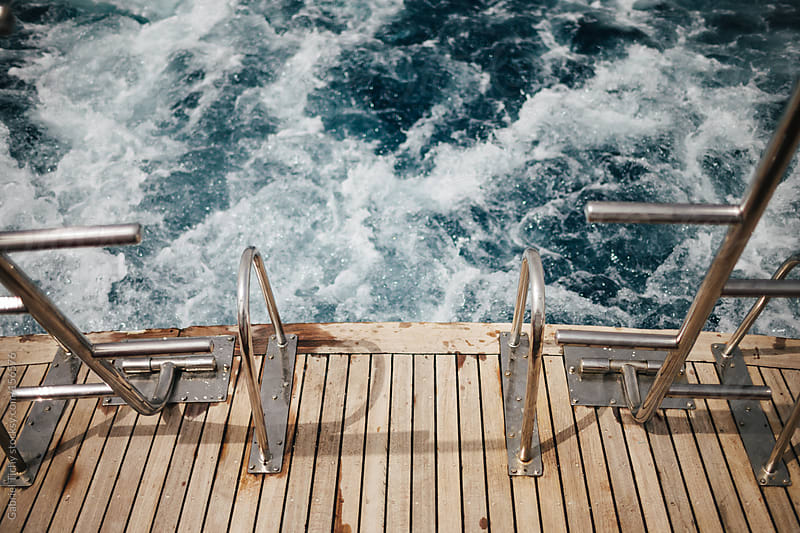 Back of a yacht's deck by Gabriel Tichy for Stocksy United