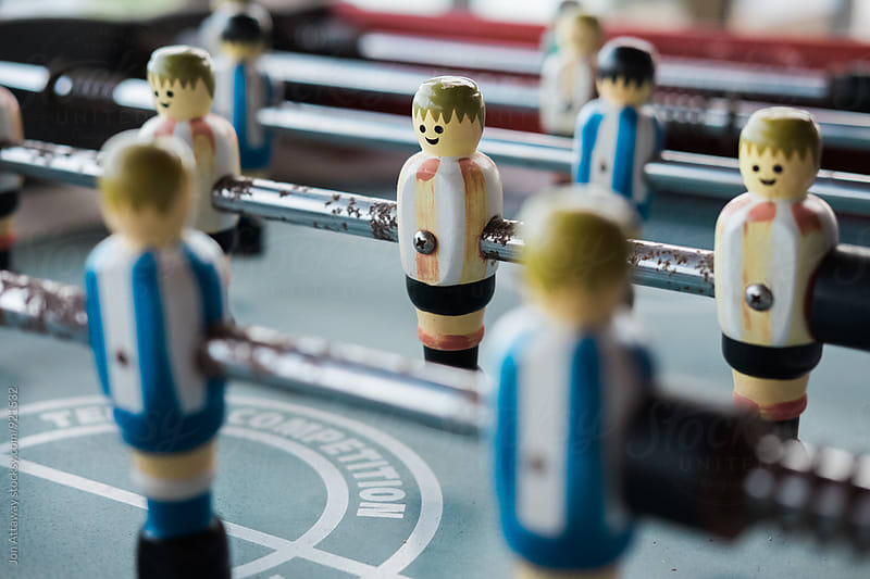 Table football players by Jon Attaway for Stocksy United
