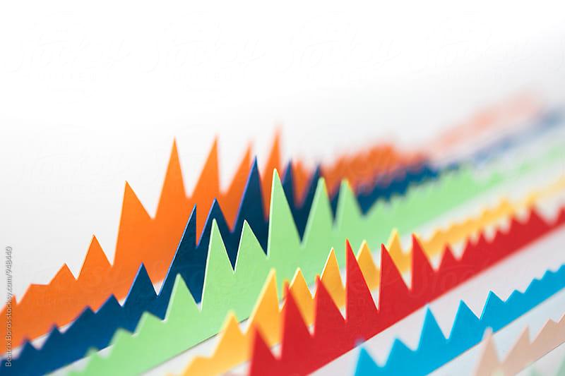 Closeup of handmade charts  by Beatrix Boros for Stocksy United
