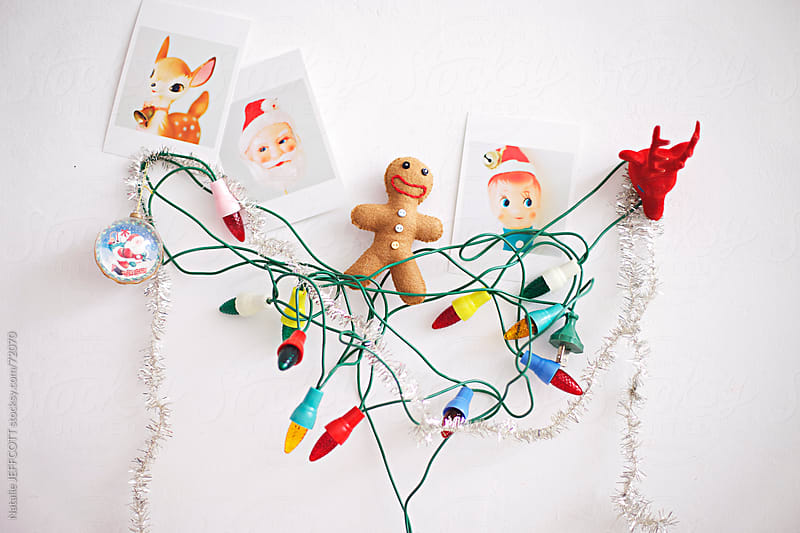 vintage Christmas ornaments by Natalie JEFFCOTT for Stocksy United