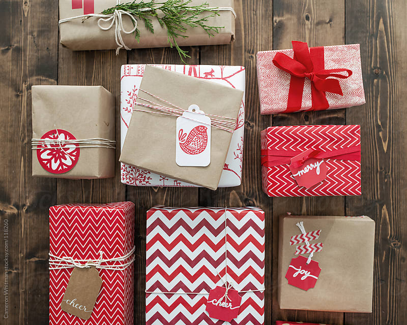 Holiday Gift Wrapping Background by Cameron Whitman for Stocksy United