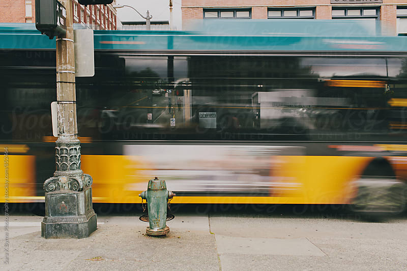 Blurry Bus by Sara K Byrne Photography for Stocksy United