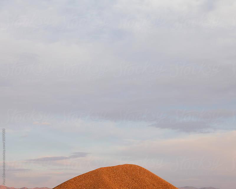 Detail of gravel pile at sunset, near Wendover, UT by Paul Edmondson for Stocksy United