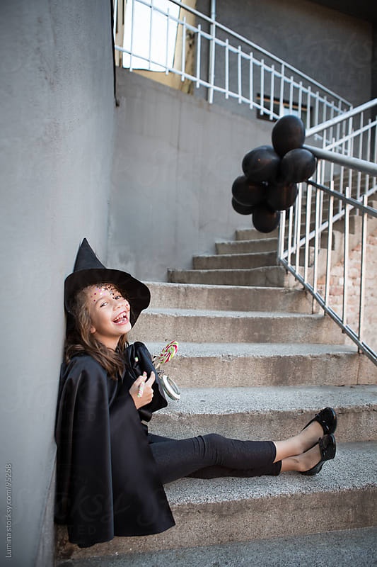 Cute Witch Laughing by Lumina for Stocksy United