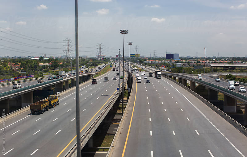 Highway in Bangkok City by Mosuno for Stocksy United