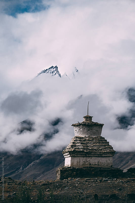 Tibentan stupa with dramatic background. by David Navais for Stocksy United