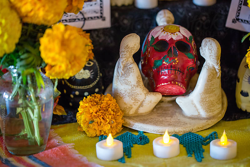 Dia de los Muertos altar by Amy Covington for Stocksy United