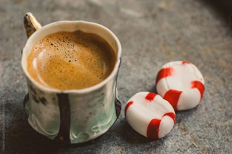 Espresso Cup and Mints by Gabriel (Gabi) Bucataru for Stocksy United