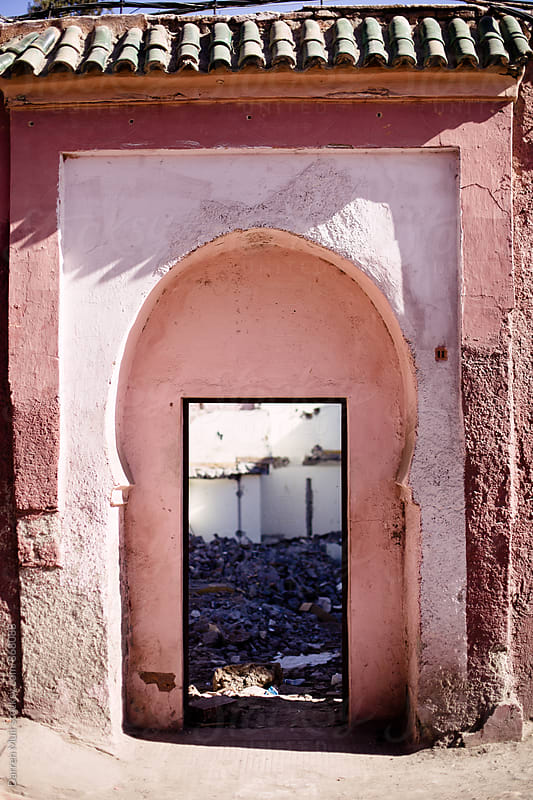 Doorway in the old town of Marrakesh. by Darren Muir for Stocksy United