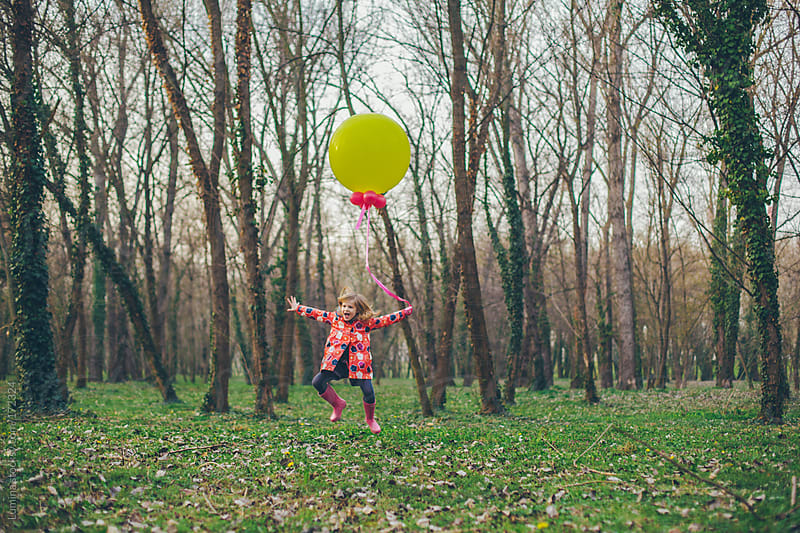 Happy Girl Jumping Outdoors by Lumina for Stocksy United
