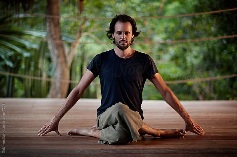 Yoga at Dawn by Goldmund Lukic for Stocksy United