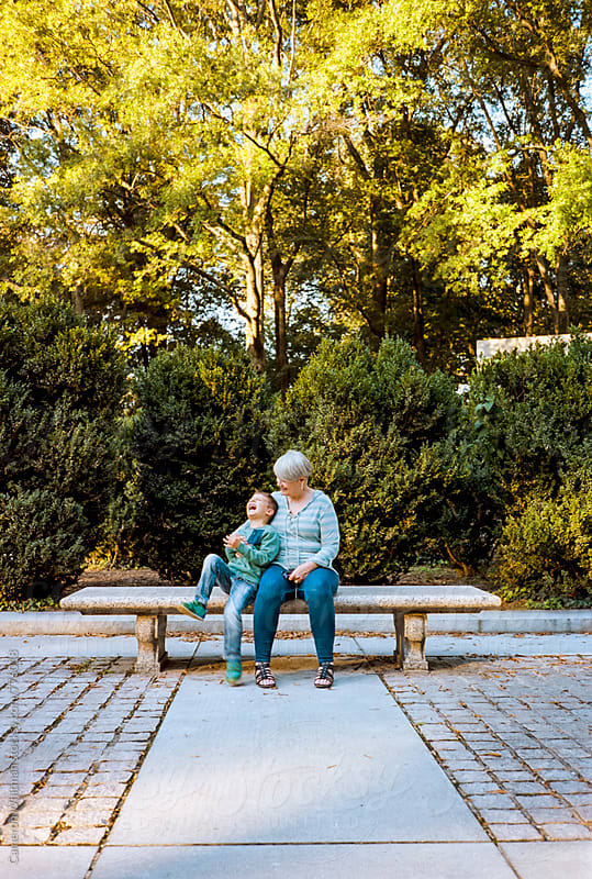 Quality time with grandma by Cameron Whitman for Stocksy United