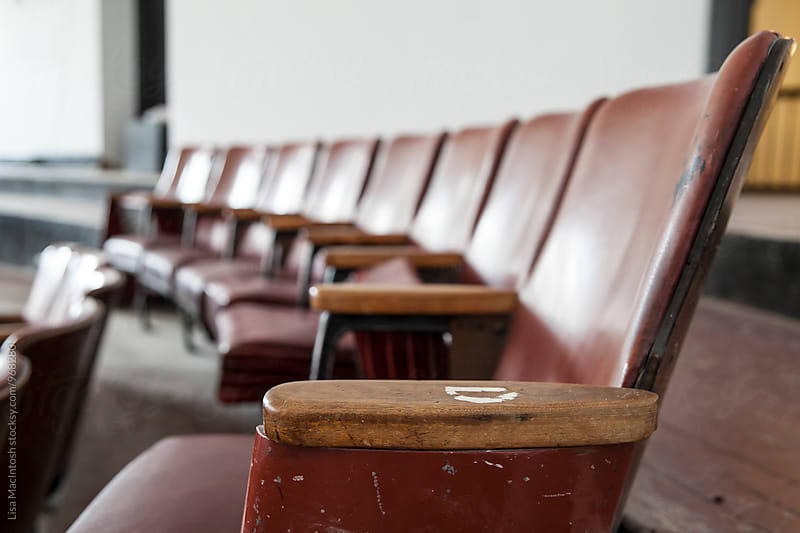 Vintage leather theatre seats by Lisa MacIntosh for Stocksy United