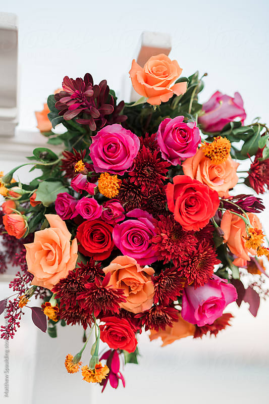 Colorful bouquet of flower arrangement by Matthew Spaulding for Stocksy United