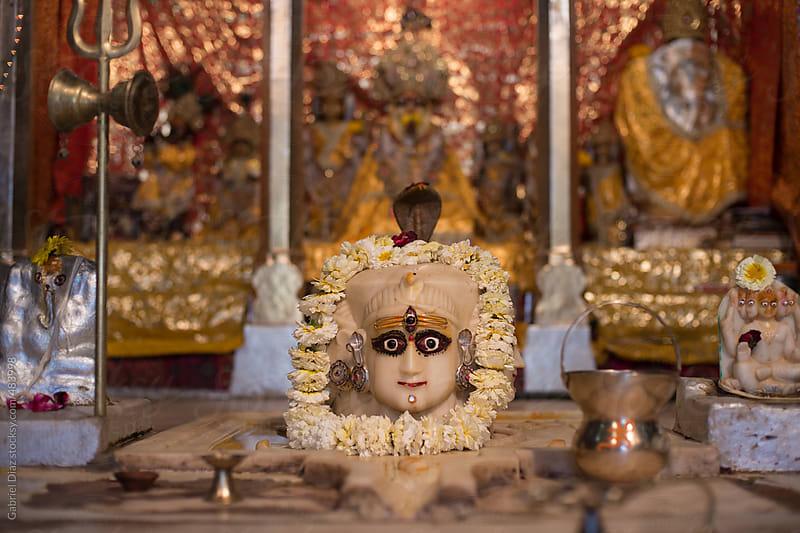 Hindu deity at a Hindu temple in India by Gabriel Diaz for Stocksy United