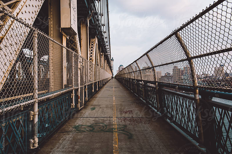 Manhattan Bridge at Twilight by Matthew Yarnell for Stocksy United