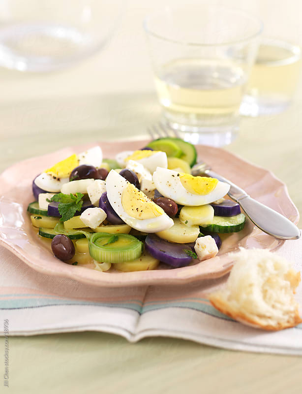 Greek Potato Salad by Jill Chen for Stocksy United