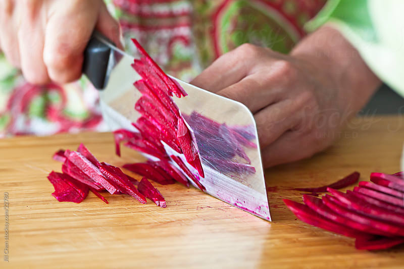 Making Beet Salad by Jill Chen for Stocksy United