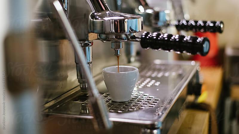 Close up of espresso machine by Brkati Krokodil for Stocksy United
