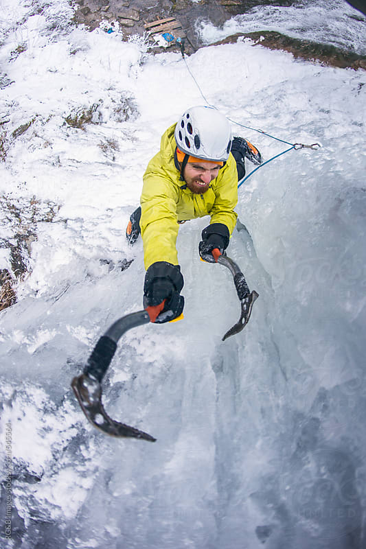 Ice climber  by RG&B Images for Stocksy United