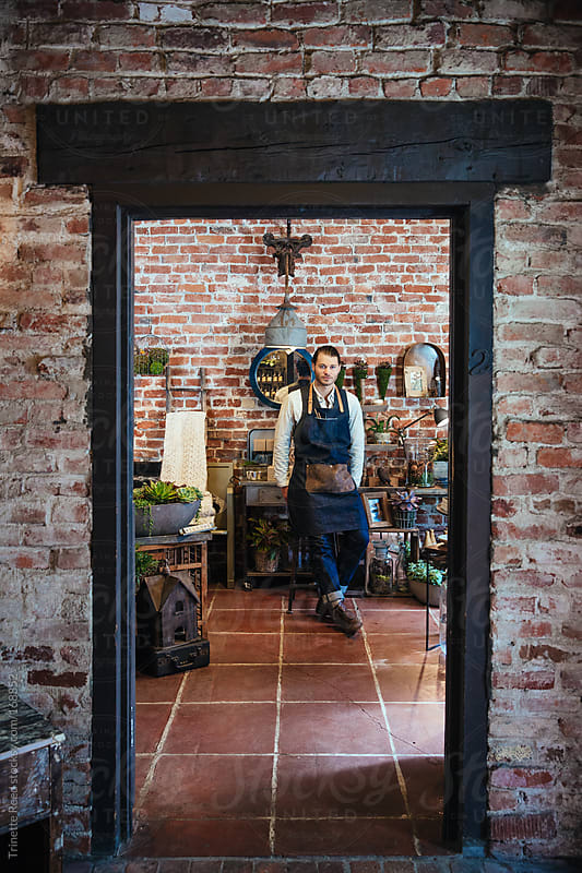 Portrait of artisan small business owner by Trinette Reed for Stocksy United