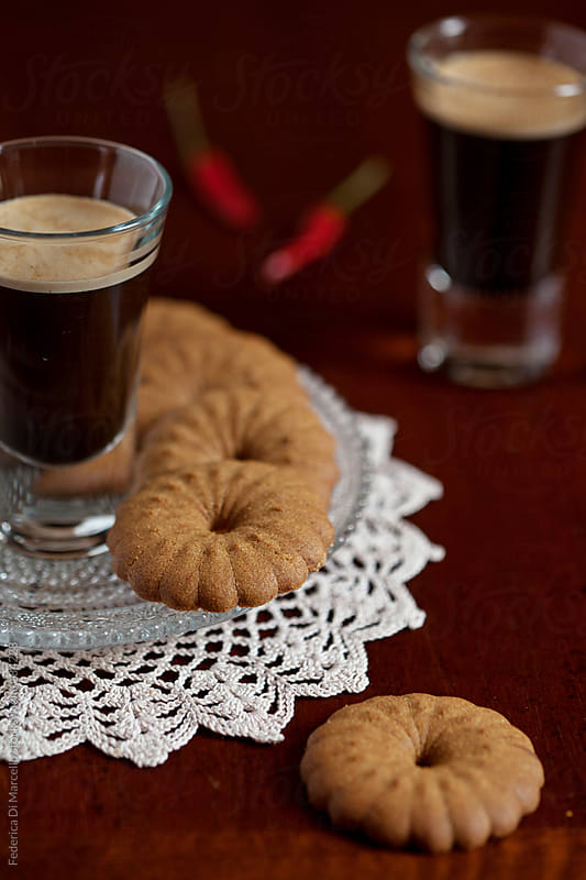 Coffee and hot pepper shortbread by Federica Di Marcello for Stocksy United