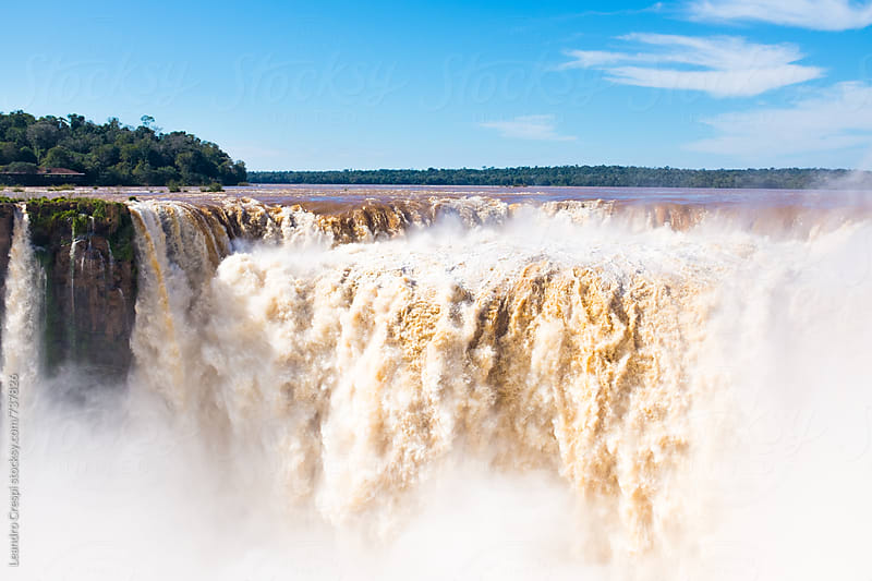 The amazing Iguazu Falls by Leandro Crespi for Stocksy United