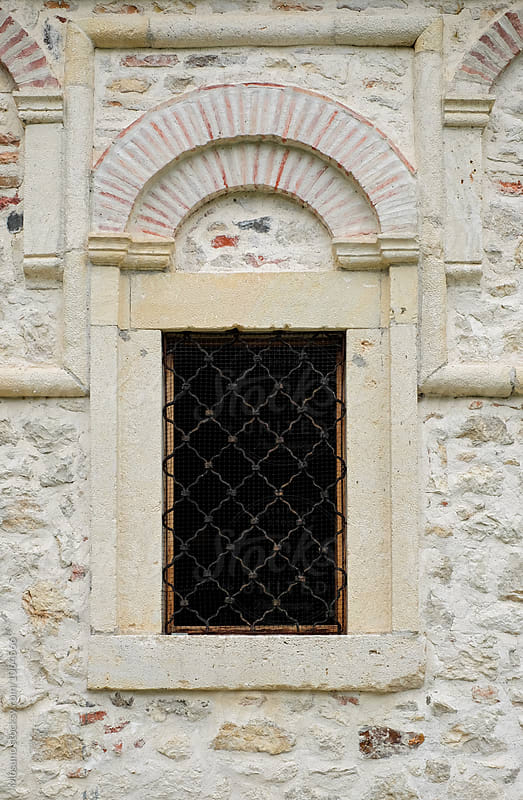 Window on Medieval Orthodox Monastery  by Mosuno for Stocksy United
