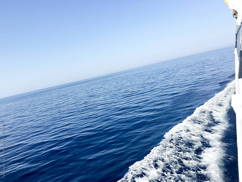 blue sea view from the boat by Tommaso Tuzj for Stocksy United