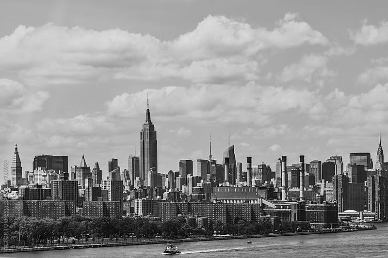 New York Skyline from Brooklyn by Victor Torres for Stocksy United