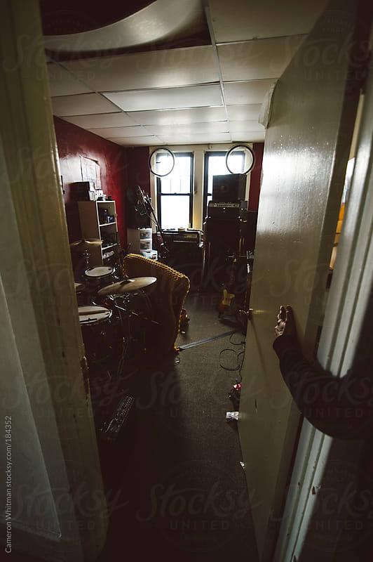 Bedroom recording studio by Cameron Whitman for Stocksy United