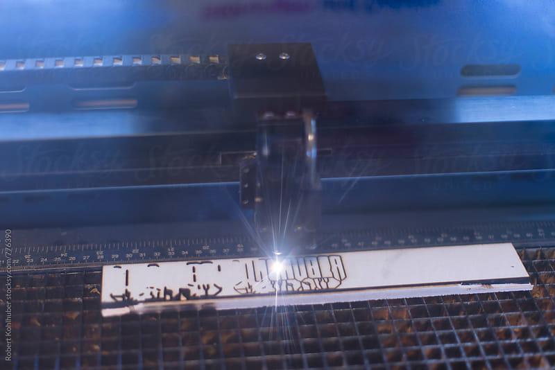 Lasercutter by Robert Kohlhuber for Stocksy United