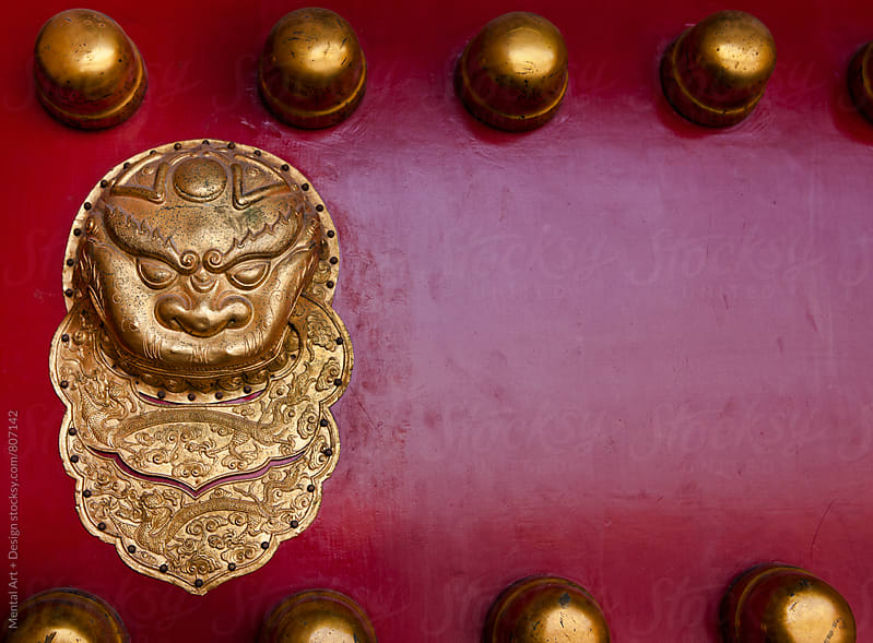 Lion detail, Forbidden City, Beijing, China  by Mental Art + Design for Stocksy United