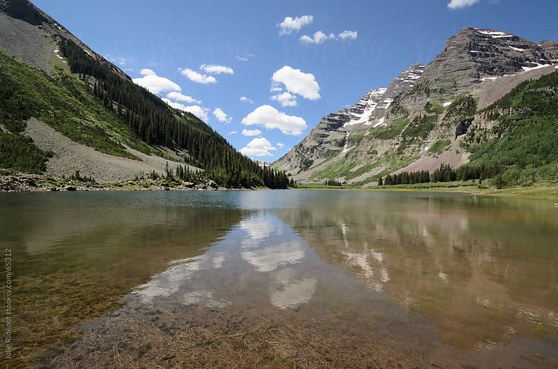 Crater Lake, Maroon Bells-Snowmass Wilderness by Julie Rideout for Stocksy United