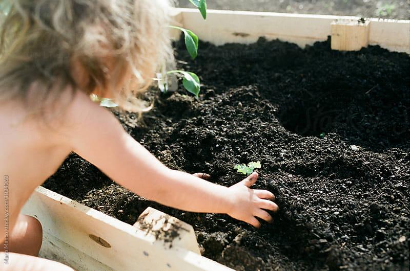 kid gardening by Maria Manco for Stocksy United