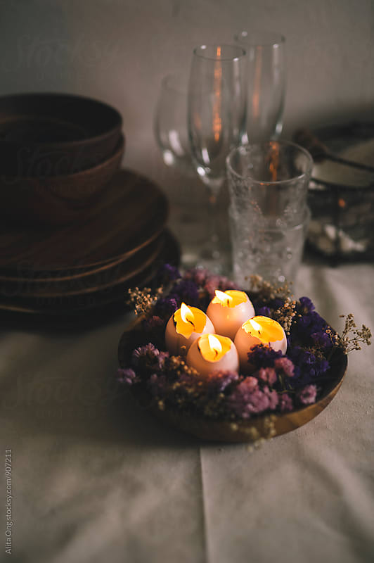 Easter centerpiece by Alita Ong for Stocksy United
