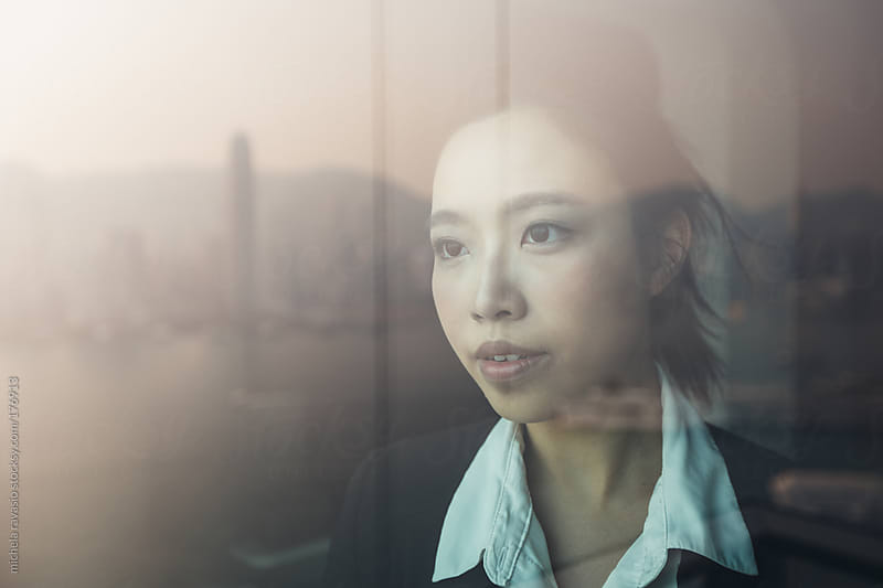 Asian beautiful businesswoman portrait. by michela ravasio for Stocksy United