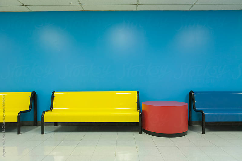 Colorful Bench Seats and Table by Raymond Forbes LLC for Stocksy United