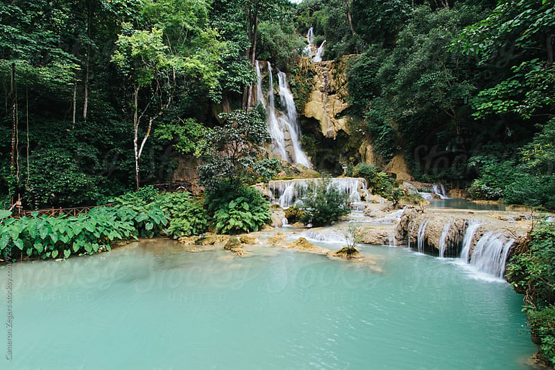 Waterfall in Laos by Cameron Zegers for Stocksy United