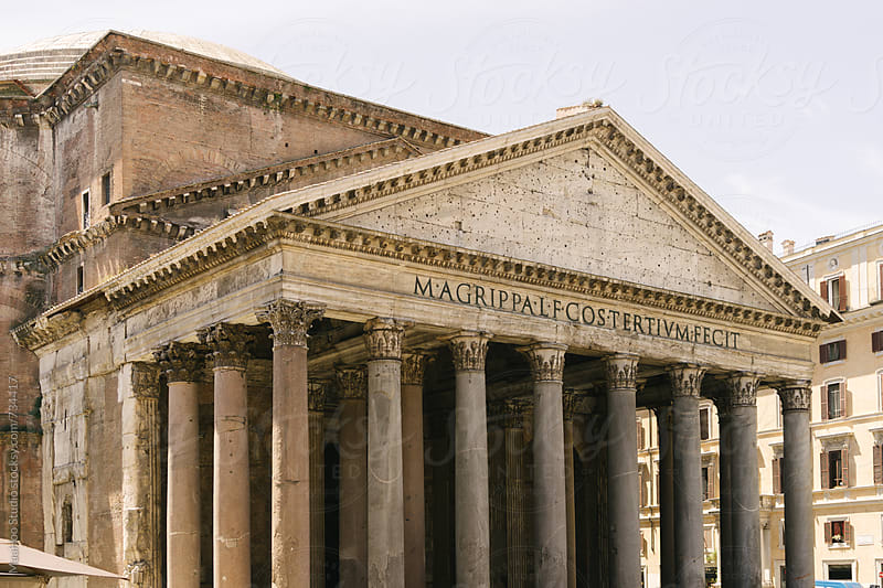 Pantheon Temple in Rome by MaaHoo Studio for Stocksy United