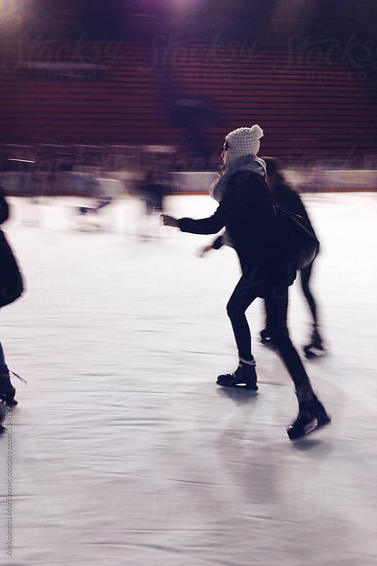 Ice skating by Aleksandra Martinovic for Stocksy United