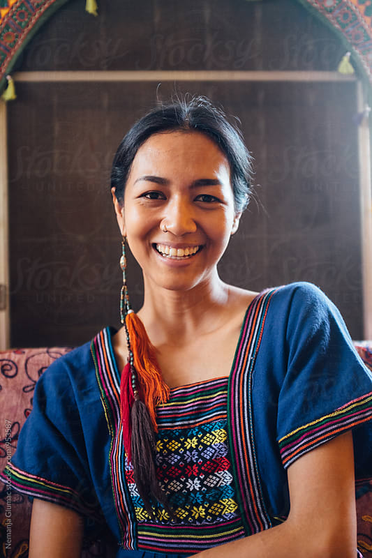 Serene Smile of a Beautiful Thai Woman by Nemanja Glumac for Stocksy United