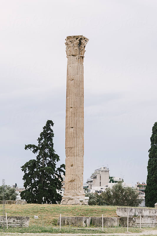 Greece, Athens, Temple of Olympian Zeus by MaaHoo Studio for Stocksy United